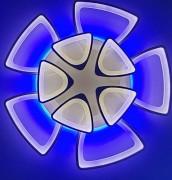 Светодиодная люстра TRIANGLE 5+5 WHITE  c цветной LED подсветкой