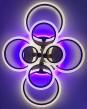 Светодиодная люстра ROUND 4+4 BROUN с цветной LED  подсветкой