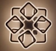 Люстра светодиодная с диммируемым пультом 5588/4+4S с цветной LED подсветкой