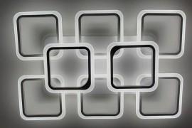 Светодиодная люстра 5588/6+2 с цветной LED подсветкой