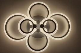 Светодиодная люстра 1888/6 с цветной LED подсветкой